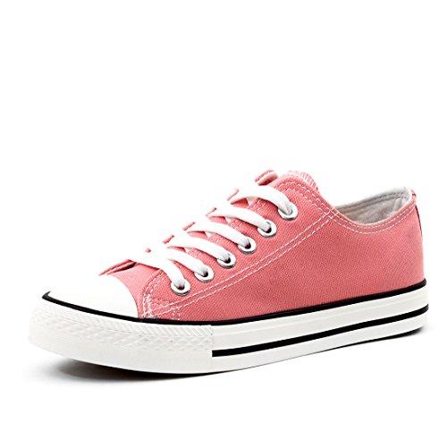 Mode Enfants Unisexe Hommes Lacent Chaussures De Sport Basses Top Toile Textile Corail / Rose