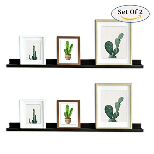 Ledge Picture Display Wall Shelf Gallery, 48-inch, Set of 2, Espresso ()