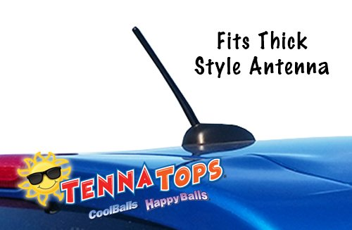 Tenna Tops Rear View Mirror Dangler Auto Accessory Antenna Ball For Thick Style Antenna: Butterfly Car Antenna Topper