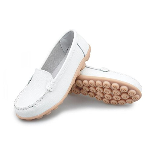 SHINIK Flat Planos punta Zapatos E Slip Casual Comfort de disponibles On mujer de Heel Exterior Más colores redonda AqAnx4r