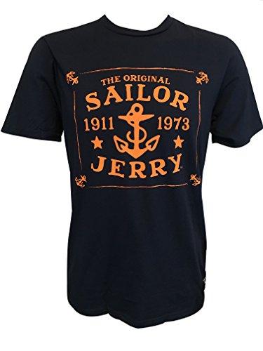 [Sailor Jerry ANCHORS AWAY Mens T Shirt (Large, Navy)] (Sailor Jerry Anchor)