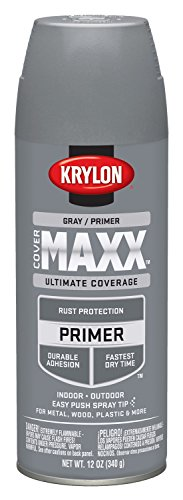 Krylon K09183007 COVERMAXX Primer, Gray, 12 Ounce