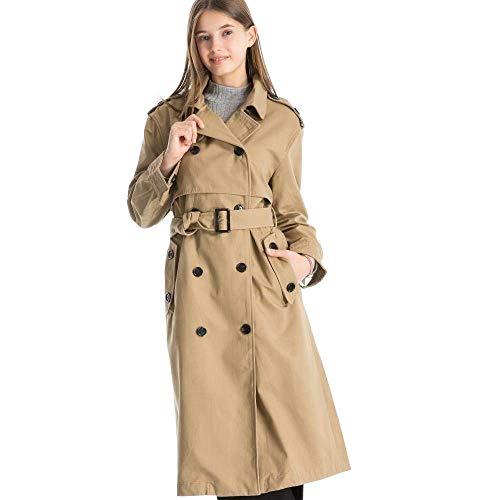 Puro Fashion Donna Autunno Gelb Windbreaker Vintage Tasche Chic Cinghia Double Primaverile Con Manica Cappotto Outerwear Colore Breasted Cappotti Classiche Ragazza Lunga Giaccone 74BBw5q