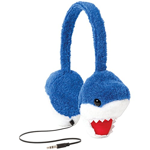 ReTrak ETAUDFSHRK ReTrak Animalz Retractable Volume Limiting Children's Headphones