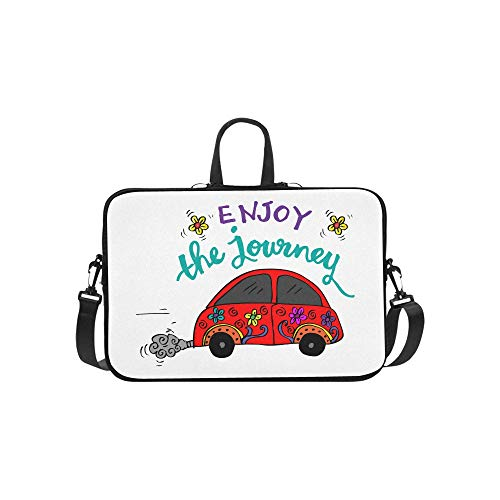 Laptop Bag Sweet Cute Car Hand Drawing Shoulder Bag for sale  Delivered anywhere in Canada