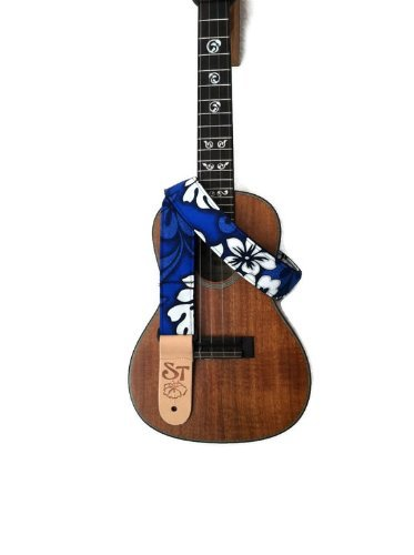 Handmade Instrument Strap BLUE HIBISCUS product image