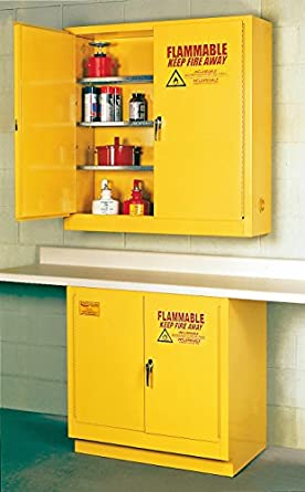 Eagle 1975 Safety Cabinet For Flammable Liquids, 2 Door Self Close, 24  Gallon,