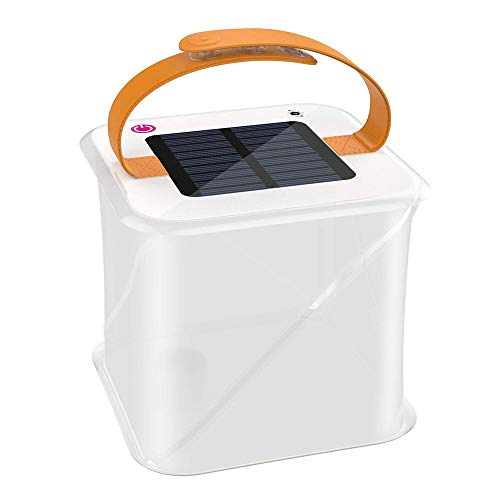 Adiding Solar Inflatable Lanterns, Survival Emergency Light Waterproof Outdoor Light with Adjustable Strap Great for Camping Hiking Lantern Tent Clear PVC