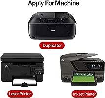 65 hojas Glossy Sticker Paper, A4 autoadhesivo Sticker etiqueta de papel para impresoras láser y de inyección por Hapree (65 hojas)