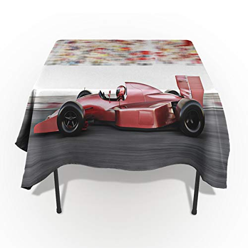 (Fantasy Star Rectangle Polyester Tablecloth Auto Racing Flash Audience Tablecloths Machine Washable Table Cover Decorative Table Cloth for Kitchen Dinning Banquet Parties 54 x 79 Inch)