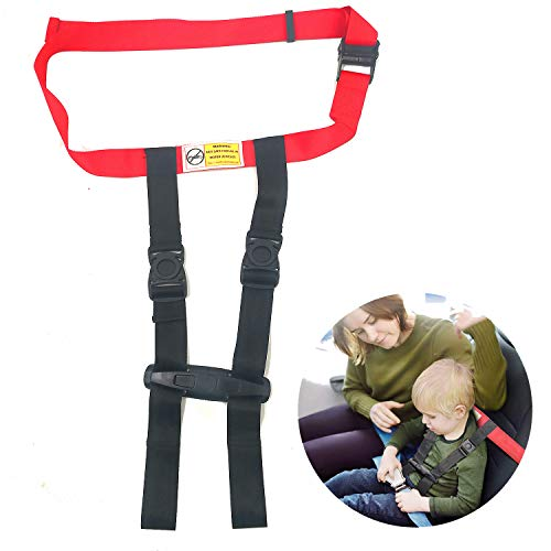 Child Airplane Safety Chest Harness ~ Safety Clip Strap for Baby,Toddlers & Kids ~ Aviation Travel Use (Basic -)