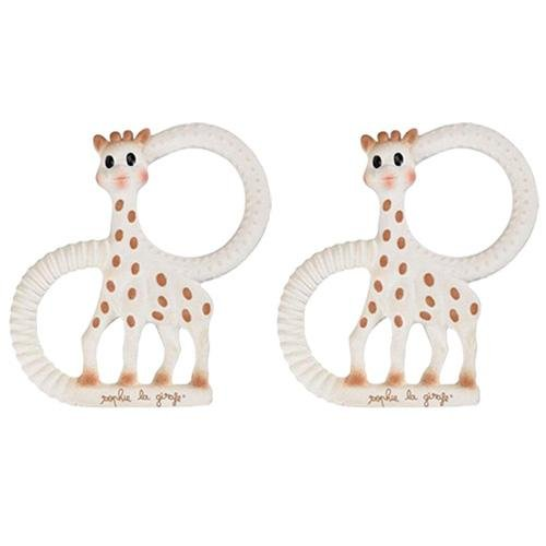 Vulli Products - Sophie The Giraffe Teething Ring - Gift Boxed! - 100% Natural Rubber, 2 Count (Sophie The Giraffe Best Price)