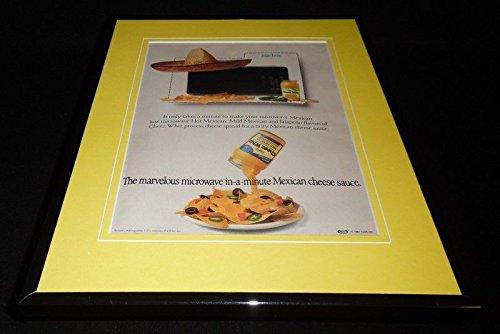 1987-kraft-cheez-whiz-nachos-framed-11x14-original-vintage-advertisement