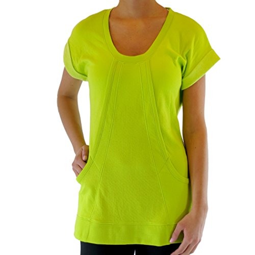 Alex+Abby Plus-Size Short Sleeve Scoop Neck Tunic 3X-Large Lime Shock