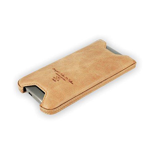 QIOTTI Q. Clip ceinture brut Étui en cuir véritable pour HTC One M9–Marron