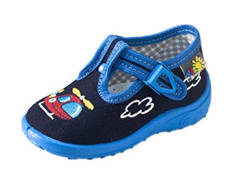 Yaro - Zapatillas de estar por casa de algodón para niño blau/Heli