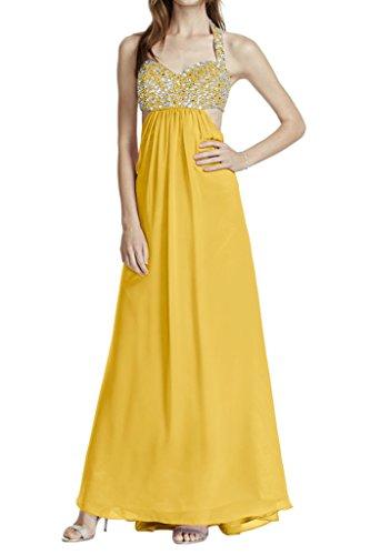 Missdressy - Vestido - corte imperio - para mujer amarillo