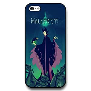 Personalized Disney Cartoon Sleeping Beauty Maleficent Hard Plastic Phone Case Cover for iPhone 5c - Black