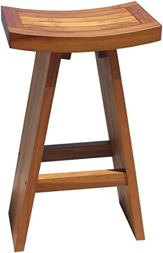AquaTeak The Original 30 Tall Asia Teak Bar Stool