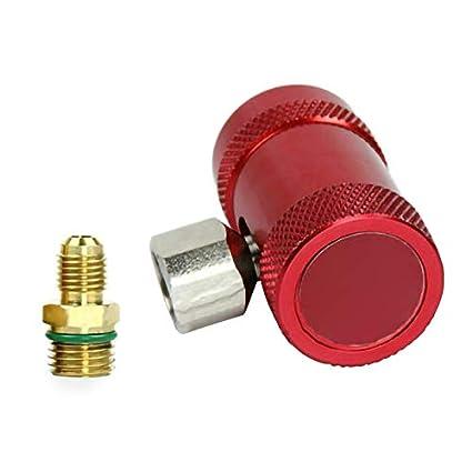 SDGDFXCHN Adaptateur de climatisation adaptateur de connecteur de coupleur rapide pour climatiseur automatique 2pcs R1234yf