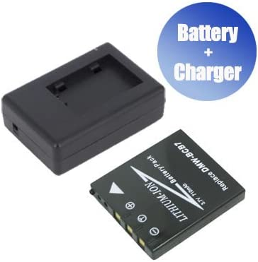 BattPit trade; New 2x Digital Camera Battery 1x Charger Replacement for Panasonic Lumix DMC-FX7S 750 mAh