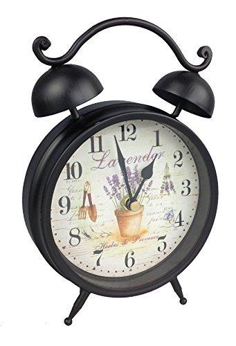RETRO VINTAGE METAL TABLE CLOCK CLOCK NOSTALGIA MANTEL CLOCK