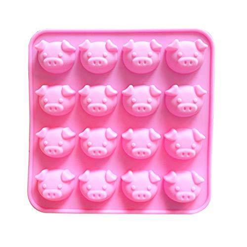 MSOO Pig Shape Embellisment Silicone Fondant Mould Cake Decor Sugar Chocolate Mold ()