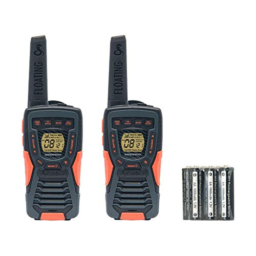 Cobra AM1035 Floating (up to IPX7) Walkie Talkie with Built-in LED Flashlight, up to 12Km Range, Power Saving Function…