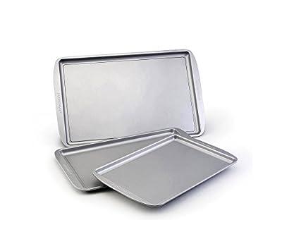 Farberware 46404 Nonstick Bakeware 5 Piece Baking Pan Set, Gray