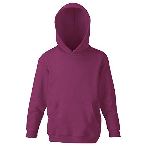 Fruit of the Loom Childrens Unisex Hooded Sweatshirt/Hoodie (7-8) (Burgundy) (Fruit Of The Loom Hooded)