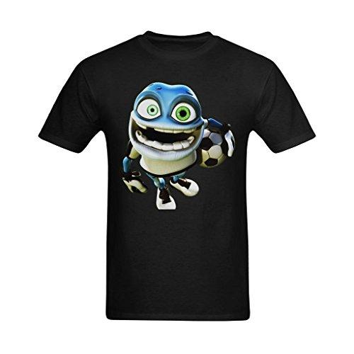 NeloimageMen Crazy Frog Plays Basketball Design Size XL - Black Design Frog T-shirt