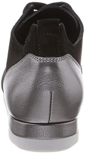 Kennel und Schmenger Damen Tiger Low-Top Sneaker, Schwarz (Schwarz/Gun Sohle Weiß)
