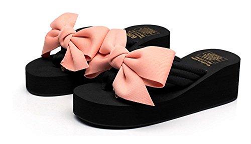 Clip Zapatillas Verano De Talón Flip La Playa Manera Cuesta Las Sandalias Del Señoras 7 Pie Rq8wnp87