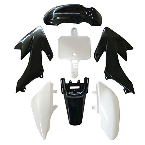Vanpower Cowls,7pcs Plastic Fairing for Motorcycle Honda CRF XR 50 (Black+ White) - Motor Cowl