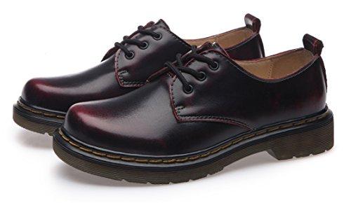 Boots Femme À Flattie Sport Bottes Lacets Ubeauty Bottines Rouge Chaussures Classiques w8OnZgwqxW