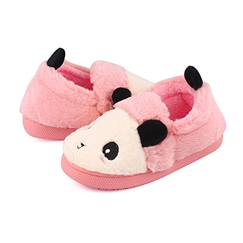 MK MATT KEELY Kids Panda Slippers Plush Animal Autumn and Winter Warm Cotton Shoes Toddler Girls by MK MATT KEELY (Image #2)