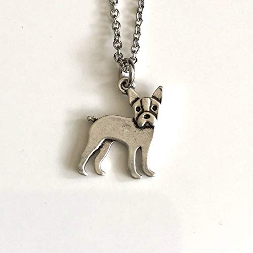 Boston Terrier Dog Necklace - Dog Breed Jewelry - Gift for Dog Lover