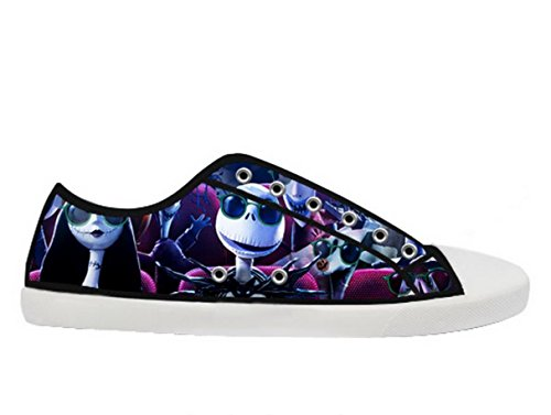 The Nightmare Before Christmas Logo Lady's Fashion Sneakers for Females - Jack Skellington Shoes