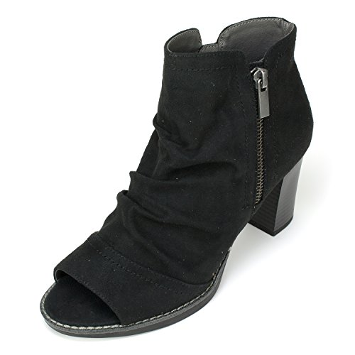 White Mountain Women's Gemini Ankle Bootie, Black, 7.5 M US (Black And White Booties)