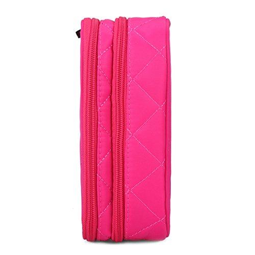 Sac Sac Nylon Sac De De Grande TENGGO Rangement Femmes Capacité Voyage Fonctionnelle Stockage De Noir Rose X5UP8x
