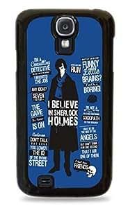 Sherlock Holmes Blue - Black Hard Case For Samsung Galaxy S4 - 415