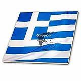 3D Rose ct_204479_4 3dRose Greek Flag Design-Ceramic Tile inch, 12