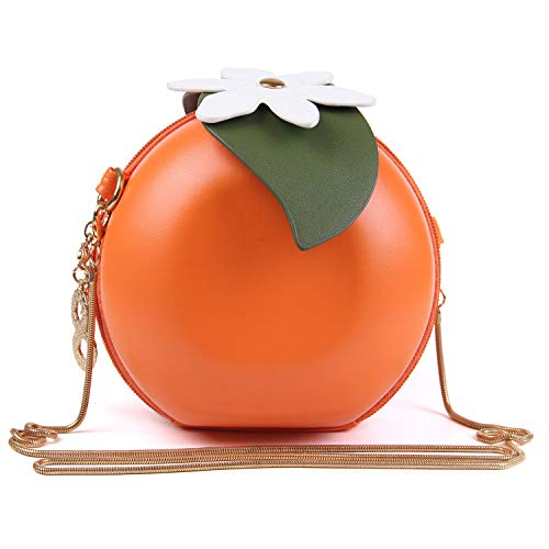 New Cute Fruits Watermelon Lemon Orange Cross body Bags Clutch Purse Novelty Shell Pearl Shoulder Bags (Ladies Shell Shaped Handbags)