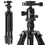 TAIROAD 62.5inch Tripod Lightweight Aluminum Travel Camera Tripod with 360 Degree Ballhead for DSLR Canon Sony