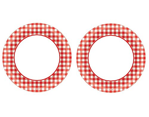 gingham paper plates Oval red and white gingham paper plates, 8ct category continue reading 0  by anonymous 2017/11/20 12-pack printed red gingham checkerboard plastic.