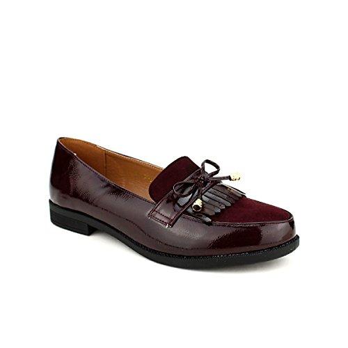 Cendriyon CINKS Derbies Vernies ME Chaussures Femme Bordeaux vx6anxq7w