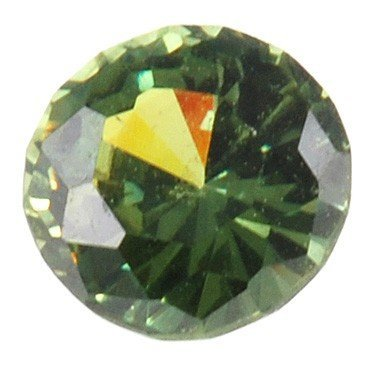 Graceful Medium Dark Demantoid Garnet Gemstone, Round Cut, 2.11 carats