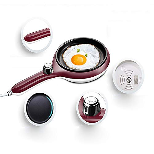 FAY Electric Egg Boiler Poacher Cooker-14 Capacity Double Layer Cooker for Hard Or Soft Boiled, Auto Shut Off,2-Speed Adjustment,Non-Stick Coating,Red