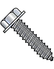 5/16-9X1 5/8 A/F.428-.437 Head Hgt.200-.230 Unslotted Indent Hex Washer Lag Screw Full Thread Zinc (Pack Qty 900) BC-312607LHW by Shorpioen