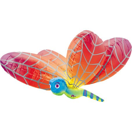 Dragonfly Balloon - Huge 40 Inch Dragonfly Shaped Foil Mylar -